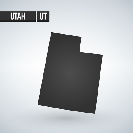 map of the U.S. state of Utah vector illustration.
