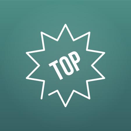 Trusted top seller starburst vector icon illustration on modern background. top 10, raiting Illustration
