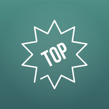Trusted top seller starburst vector icon illustration on modern background. top 10, raiting 일러스트