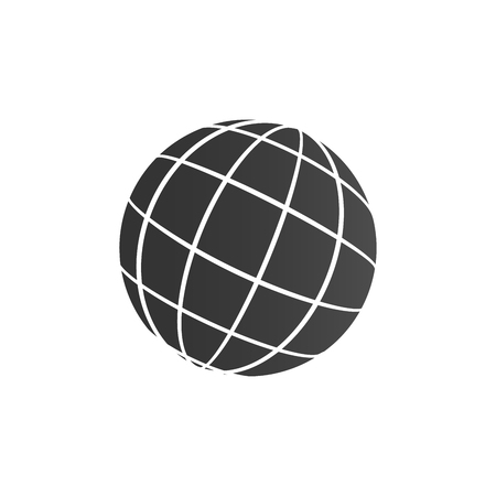 world icon, globe, travelling around the world, vector illustration for web, presentations, ui mobile Illustration