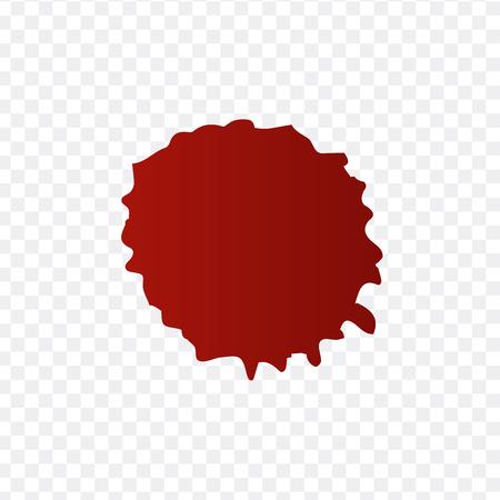 Salpicaduras de sangre realistas y conjunto de vectores de gotas de sangre. Salpicaduras de tinta roja. ilustración vectorial aislado sobre fondo transparente