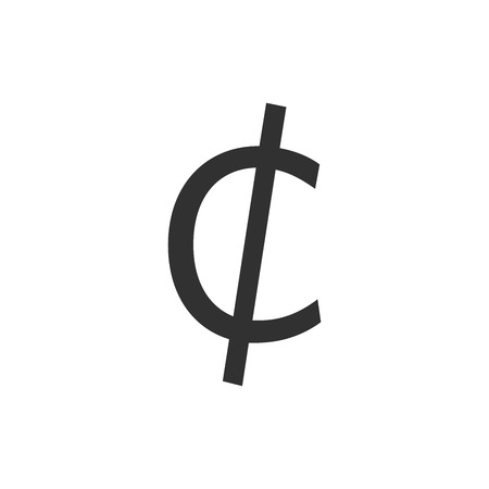 Cent sign icon.Money symbol.vector illustration isolated on white background  イラスト・ベクター素材