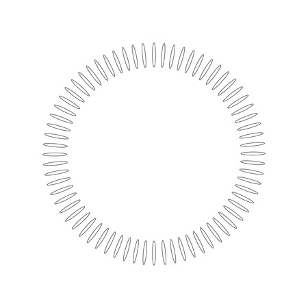 Geometric circle element made of radiating shapes. Abstract circle shape. vector illustration isolated on white background 写真素材 - 127339802