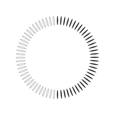 Geometric circle element made of radiating shapes. Abstract circle shape. vector illustration isolated on white background