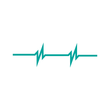 heart rhythm two peaks ekg .vector illustration isolated on white background