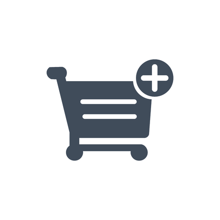 Shopping cart add to Cart Icon, Purchase. vector illustration isolated on white background