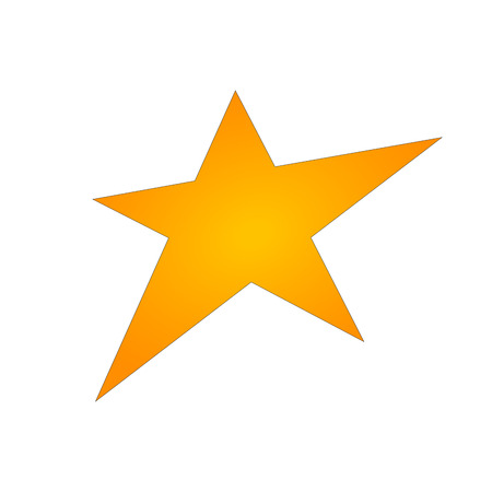 Gold star icon vector eps10. Gold star metal gradient sign.