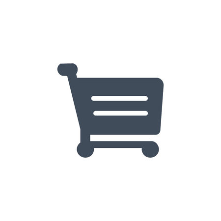 Shopping Cart Icon, flat design, vector illustration isolated on white background