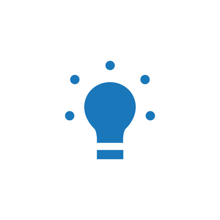 LED, light bulb flat icon, Vector illustration isolated on white .
