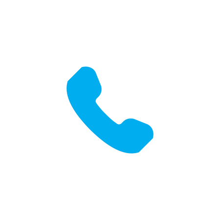 Phone Receiver rounded icon. Vector illustration style is a flat iconic symbol. Designed for web and software interfaces