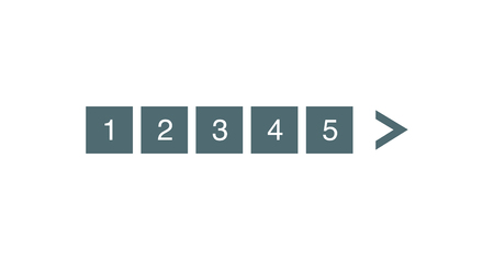 Pagination bar set. Electronic pages for web site numbering to indicate, marks used to show the sequence of page. Vector illustration isolated on white Vettoriali