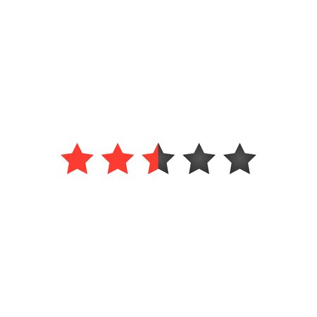 Five star rating for web or app. Buttons for sites. Feedback concept. Vector Illustration isolated on white