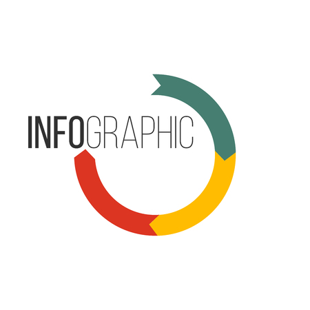Circular arrows for infographics. Chart, graph, diagram with 3 steps, options parts Vector