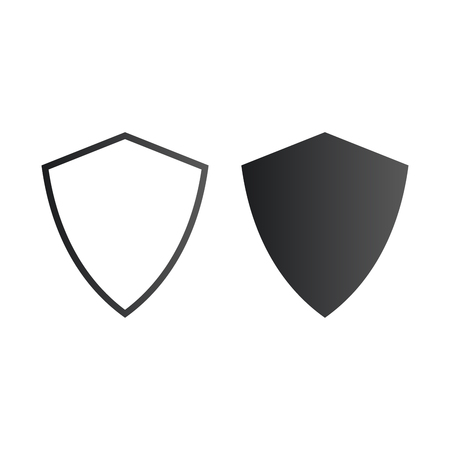 Vector shield protection security icon. safety badge. Vector illustration isolated on white.