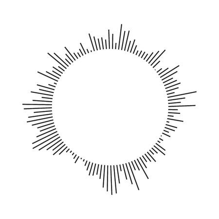 Burst, beams, rays geometric design circles. Vector illustration isolated Vetores