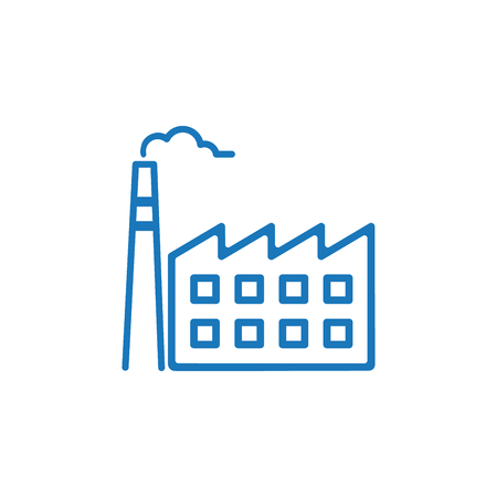 Factory icon. Factory symbol design template. Can be used for web and mobile UI. Vector illustration isolated