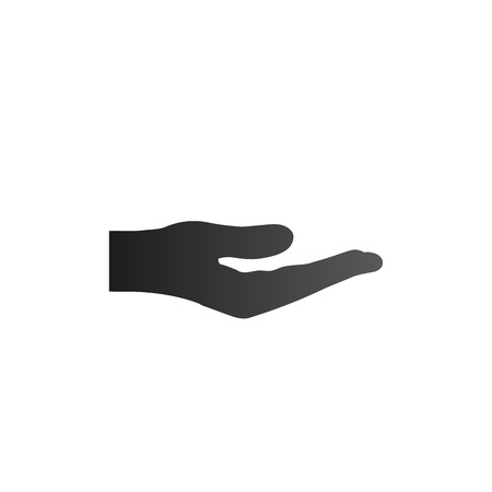 Sharing Hand icon. Giving or donation concept. Vector illustration isolated on white