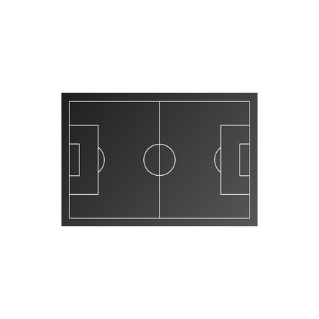 Soccer field icon. Simple illustration of soccer or football field vector icon for web. Vector illustration isolated on white background Çizim