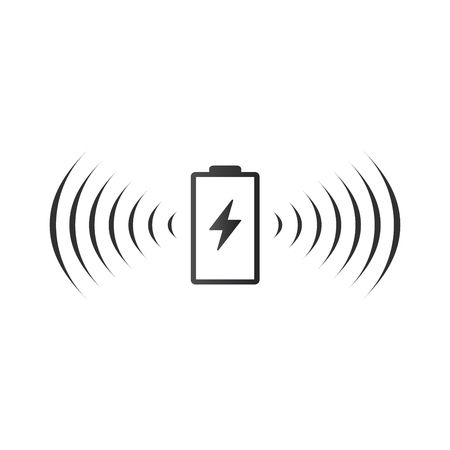 Wireless battery charging icon. Can be used on web apps, mobile apps and print media. vector illustration isolated