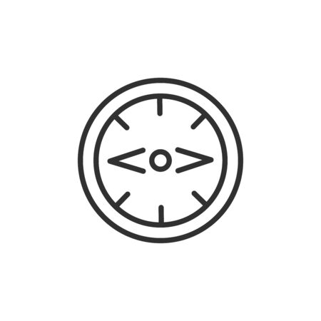 Compass icon vector illustration. Linear symbol with thin outline. Editable stroke. Minimalist style. Vector