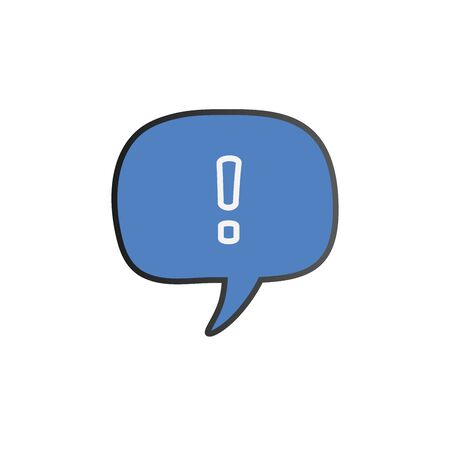 Speech bubble with exclamation mark. attention sign icon. Hazard warning symbol. Illustration