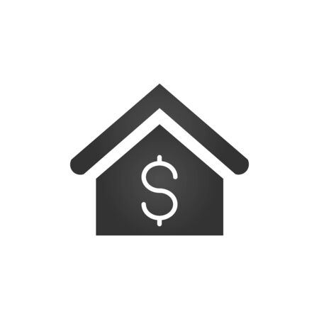 House with dollar sign icon. Real estate, property sell symbol  illustration.