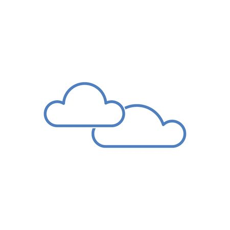 clouds weather icon isolated on white background. Vector Ilustrace