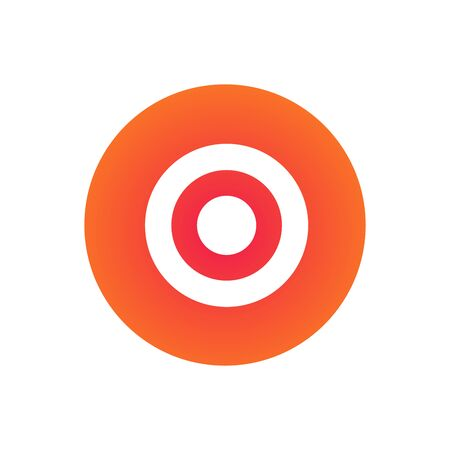 Target or aim circles icon. vector illustration for web design isolated on white.