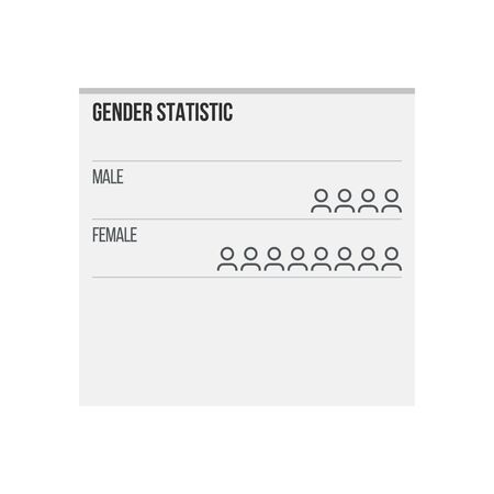Gender statistic infographic elements, female male, vector illustration Stock Illustratie