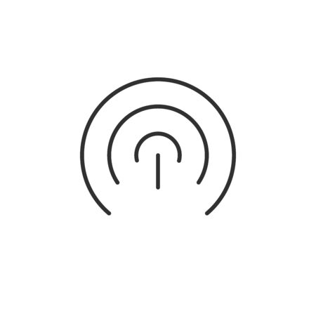 Wifi icon. Vector wlan access, wireless wifi hotspot signal sign, icon, symbol. Vector illustration isolated on white .