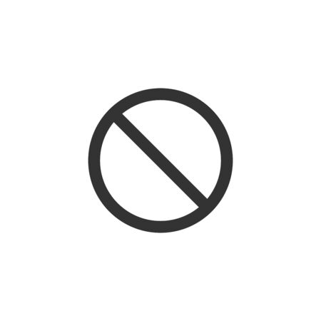 prohibited ban or stop illegal sign, black icon. Stock Vector illustration isolated on white background.
