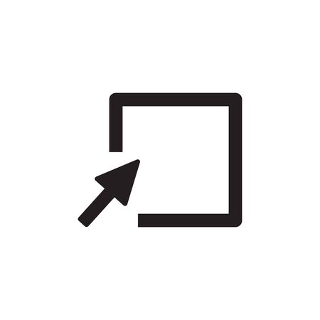 Cursor Arrow clicking the empty box . Cursor icon. Stock Vector illustration isolated on white background. Banque d'images - 133427374