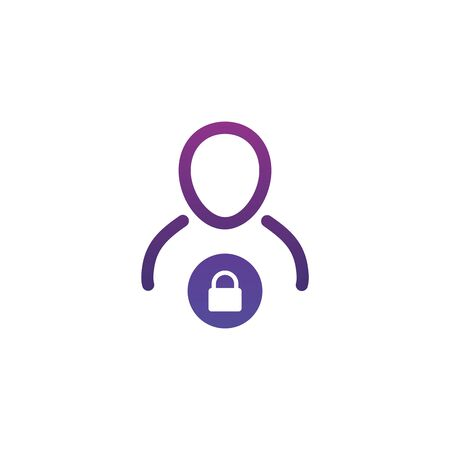 User login or authenticate icon, vector. Personal protection icon. Internet privacy protection icon. Password protected. Security key pad
