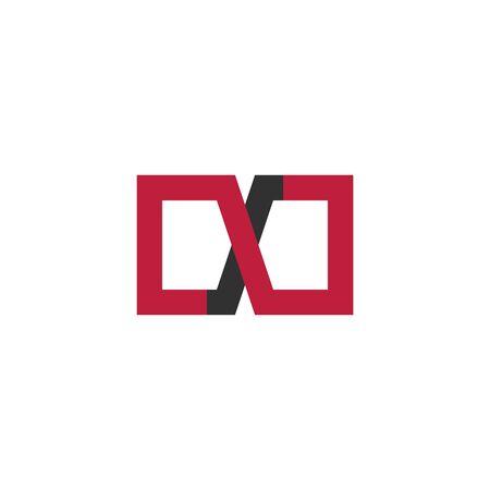 Unusual red and black infinity square Icon or Logo. Stock vector illustration Illusztráció