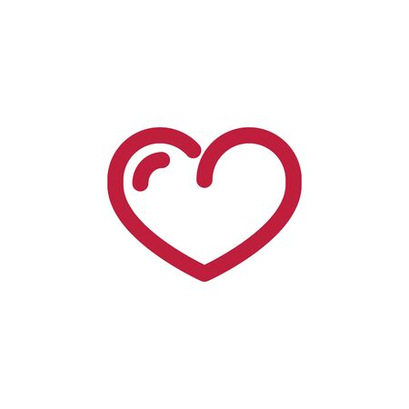 heart line icon, love logo, linear pictogram isolated