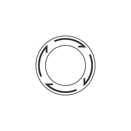 Abstract linear circle icon. Stock Vector illustration isolated