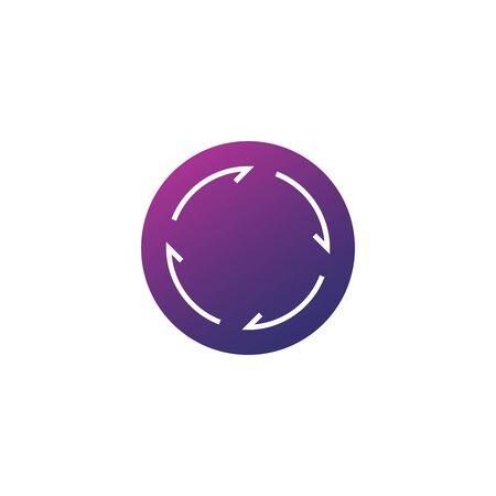 Abstract linear circle arrow icon. Stock Vector illustration isolated Illusztráció