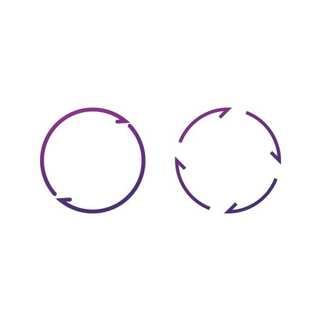 Unusual arrows in circle. Stock Vector illustration isolated Illusztráció