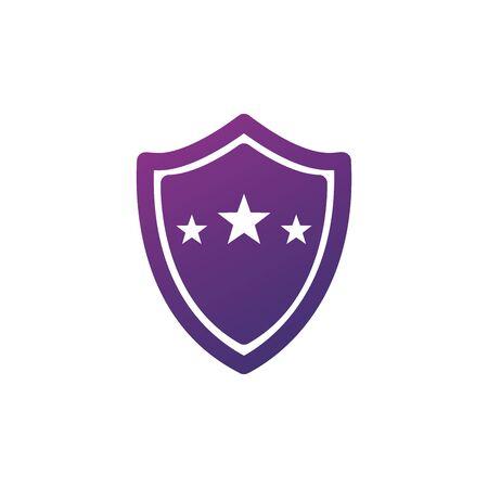 Star sequrity shield. Stock Vector illustration isolated