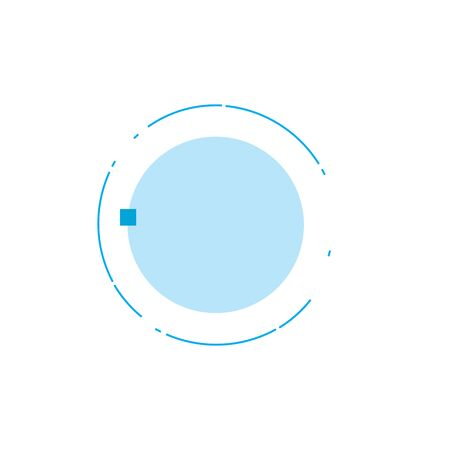 Abstract technology futuristic circle with place for your text or icon. Stock Vector illustration isolated