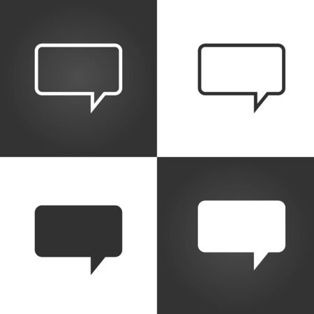 Speech bubble icon in linear and flat design. communication sign for apps web ui etc. Stock Vector illustration isolated Ilustração