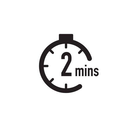 2 minutes timer, stopwatch or countdown icon. Time measure. Chronometr icon. Stock Vector illustration isolated Vektoros illusztráció