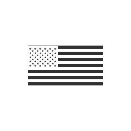 Black American flag. Stock Vector illustration isolated