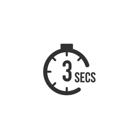 3 seconds Countdown Timer icon set. time interval icons. Stopwatch and time measurement. Stock Vector illustration isolated