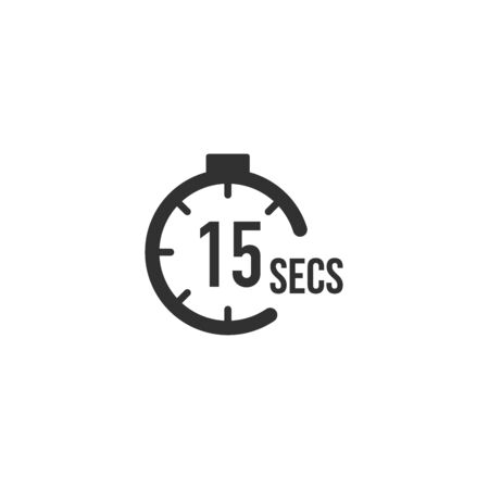 15 seconds Countdown Timer icon set. time interval icons. Stopwatch and time measurement. Stock Vector illustration isolated
