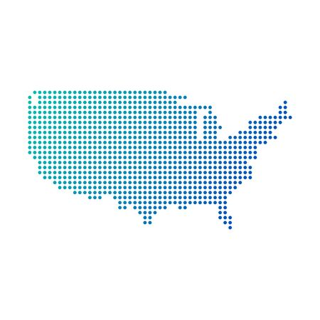 Dotted USA map. Stock Vector illustration isolated