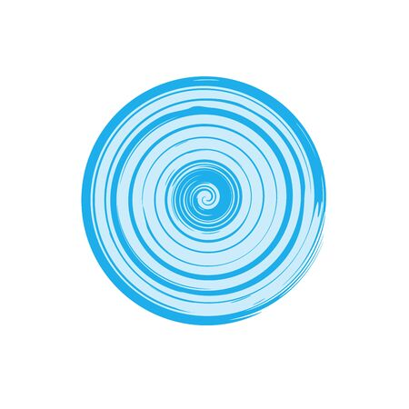 Abstract swirl design element. Spiral, rotation and swirling movement. Vector illustration with dynamic effect. Stock Иллюстрация