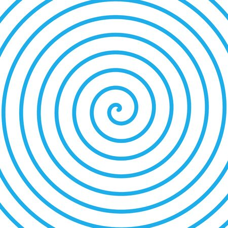 Blue Vector radial curve spiral twirl background. Hypnotic, dynamic vortex Object. Vector illustration