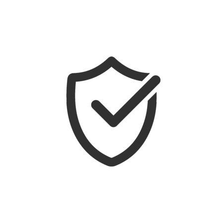 Shield check mark  icon design template