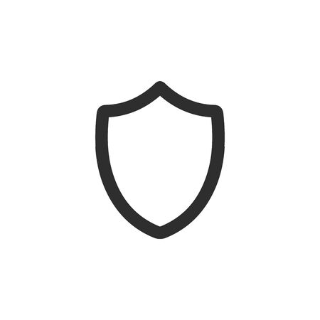 Shield icon, safety security symbol. privacy protection.